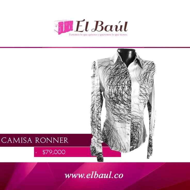 Camisa Rönner  la influencia de la historia en la moda  $79,000  http://elbaul.co/Productos/227/Camisa-Ronner-gris/negros-