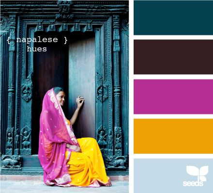 napalese brights?..bedroom MomColors Combos, Design Seeds, Colors Palettes, Hot Pink, Colors Schemes, Napal Bright, Jewels Tone, Dark Teal, Bright Colours
