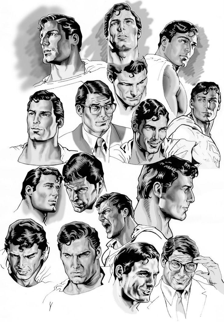Christopher Reeve as Clark Kent/Superman - art by Nacho Castro