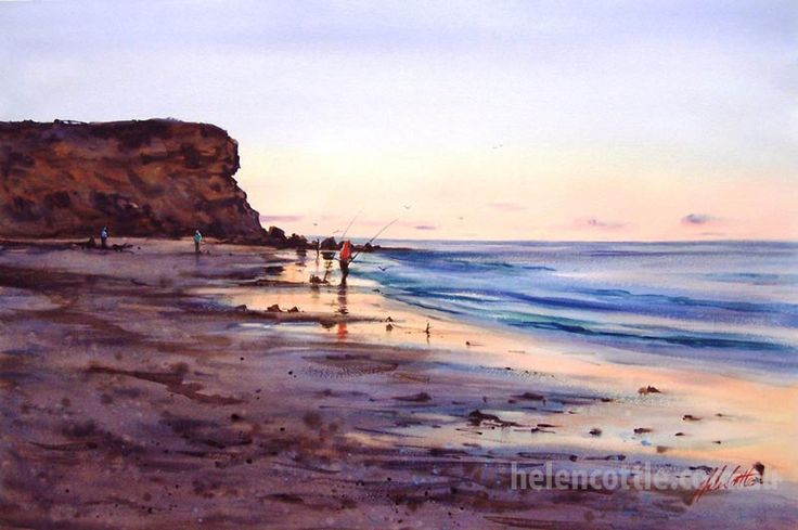 Dusk, Airey's Inlet Watercolour