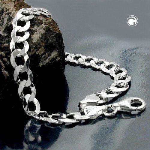 Armband, Panzer flach, Silber 925 21cm accessorize24-101044-21