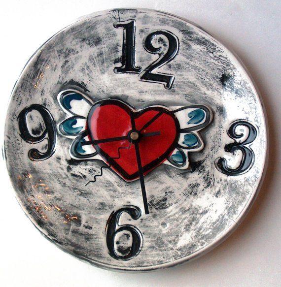 handmade ceramic clock <3