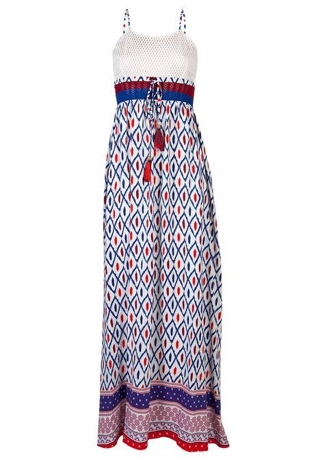 Mάξι φόρεμα με σχέδια