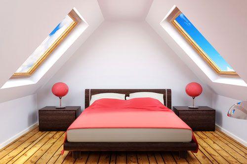 Small Attic loft | the client decided on this type of loft construction for three reasons ...