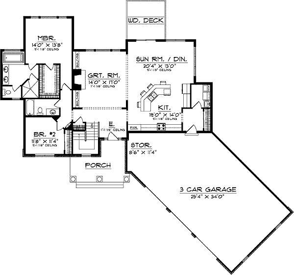 101 best house plans images on pinterest floor plans for Angled garage rambler house plans
