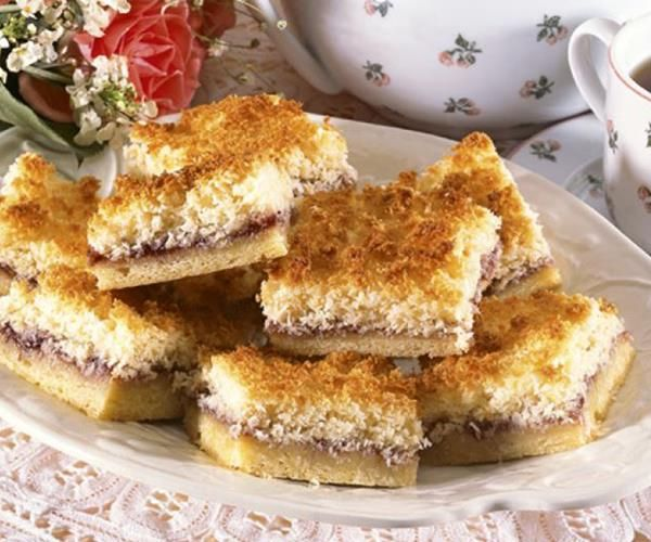 Women's Weekly Vintage Edition: Raspberry coconut slice recipe | Food To Love