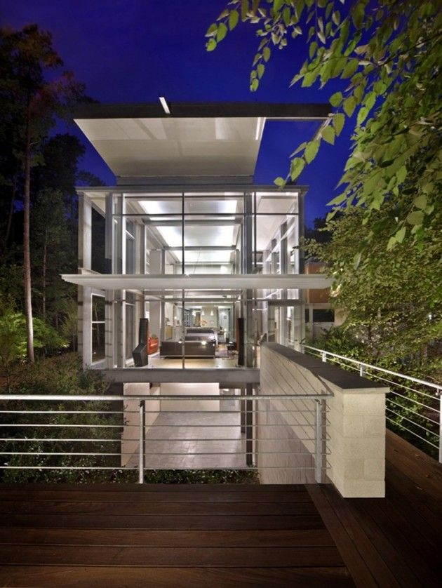 The Paletz Moi House in Durham, North Carolina by Kenneth E Hobgood Architects