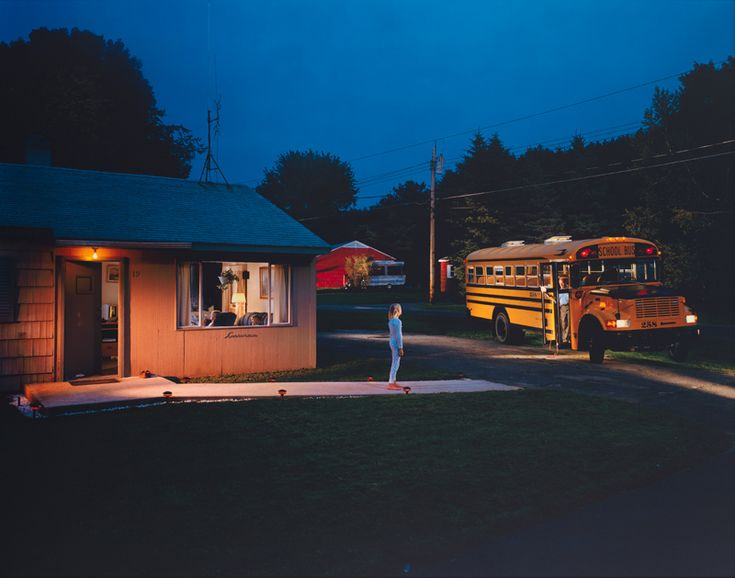 Gregory Crewdson (b.1962), Untitled (beckoning bus driver), 2001–2002. Digital chromogenic print, mounted on aluminum,