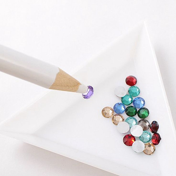 Painting Nails DIY Tools Picker Pencil Pen For Nail Art Decorations Dotting Pen 1pcs Rhinestones Box Plastic Plate 1pcs 2pcs/set