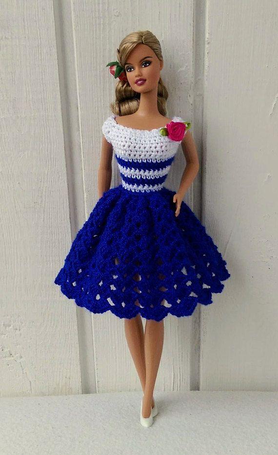 Barbie Clothes Barbie Crochet Dress For Barbie Doll Roupas