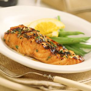 Grilled Orange and Bourbon Salmon, Cooking Light June 1999. So easy and delicious!