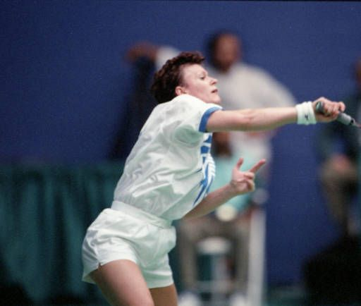 British badminton athlete, Joanne Muggeridge, competing in the 1996 Olympics, Georgia State University Sports Arena, Atlanta, Georgia, July 24, 1996. AJCNS1996-07-24-01a, Atlanta Journal-Constitution Photographic Archives. Special Collections and Archives, Georgia State University Library.