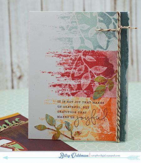 autumn joyful die-cut kissed card by Betsy Veldman