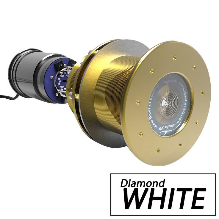 Bluefin LED Great White GW16 Thru-Hull Underwater LED Light - 5600 Lumens - Diamond White - https://www.boatpartsforless.com/shop/bluefin-led-great-white-gw16-thru-hull-underwater-led-light-5600-lumens-diamond-white/