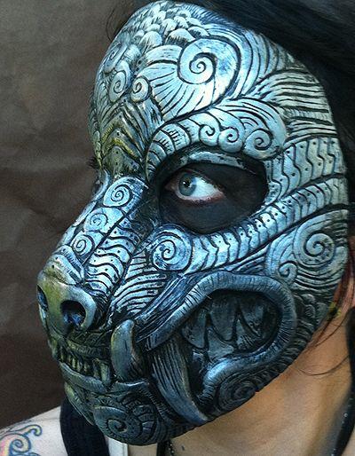 Ornate Monster Mask Silver by missmonster.deviantart.com on @deviantART