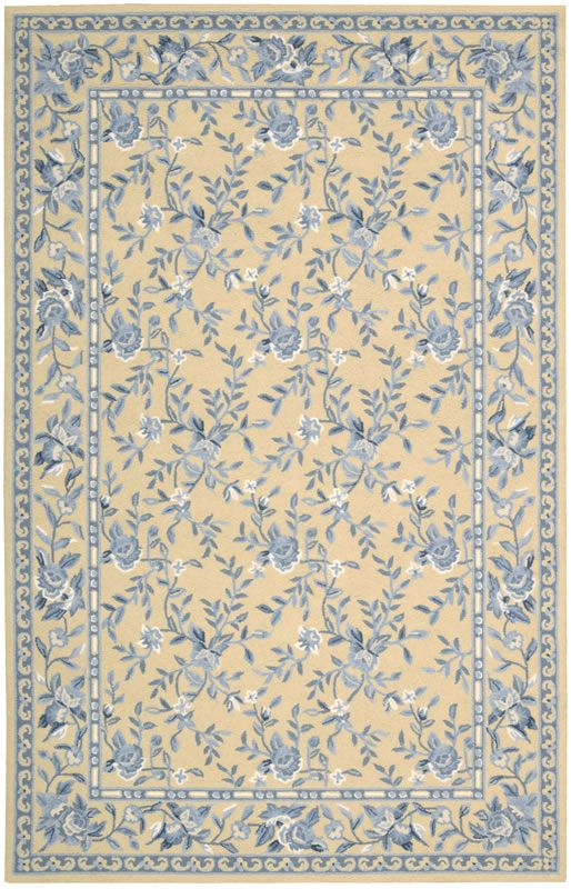 Nourison Traditional French Country Blue And Yellow Floral Rug