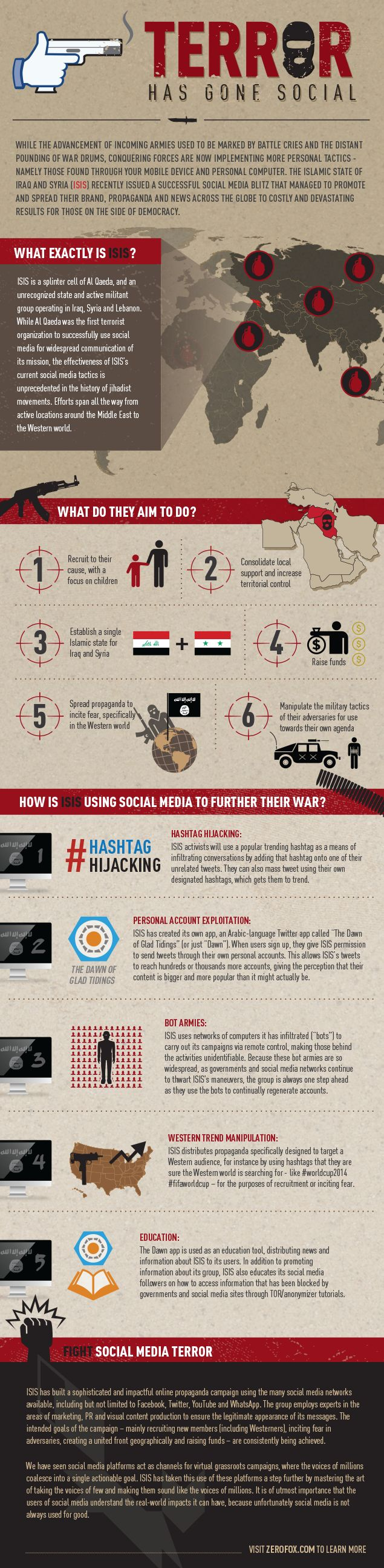 ISIS - TERROR HAS GONE SOCIAL: The Islamic State (ISIS) has built a sophisticated and impactful online propaganda campaign using many social media networks, including but not limited to Facebook, Twitter, YouTube and WhatsApp.