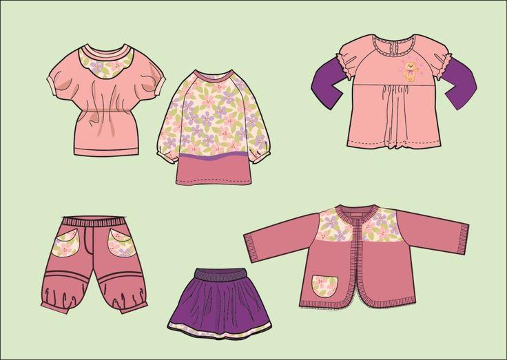 Эскизы детской одежды для девочек дизайнер портфолио дизайнера \ Дизайнер одежды