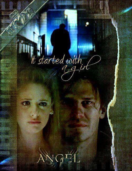 Angel: Io ti ho vista prima che tu diventassi la Cacciatrice.  Buffy: Cosa?    Angel: Ti ho guardato, e tu mi hai chiamato. Era un pomeriggio luminoso davanti la tua scuola. Stavi scendendo i gradini... e... ed io ti ho amata.  Buffy: Perché?    Angel: Perchè ho potuto vedere il tuo cuore. Lo tenevi fra le mani mostrandolo a tutti ed io mi sono preoccupato che avrebbe potuto essere contuso o lacerato. E più di ogni altra cosa nella mia vita ho voluto tenerlo sicuro... per scaldarlo con il…