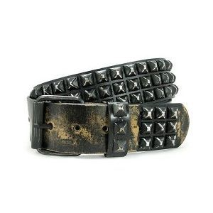 Distressed pyramid stud belt  #style #fashion #accessories rock wear