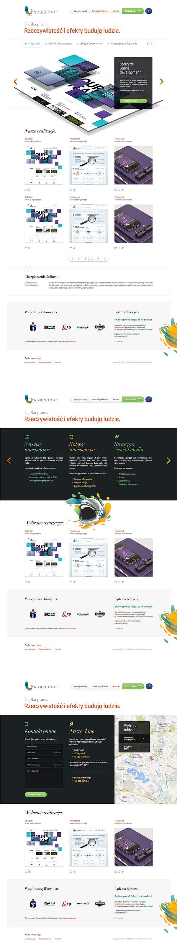 Vision Trust / Our story by Vision Trust, via Behance