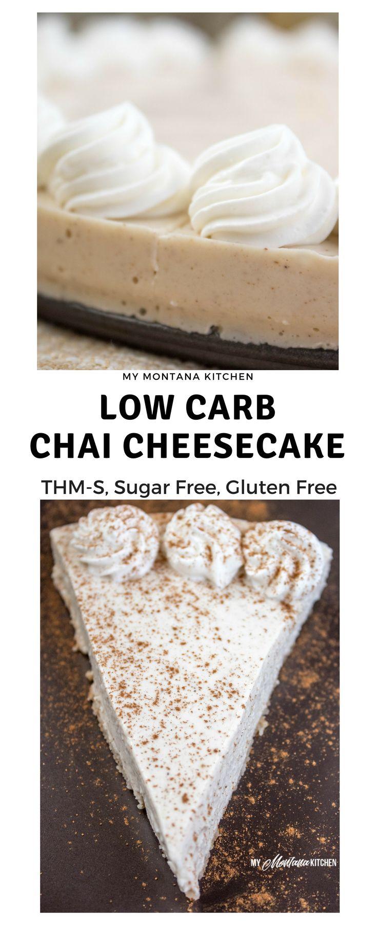Low Carb Chai Cheesecake (THM-S, Sugar Free, Gluten Free) #trimhealthymama #thm #sugarfree #lowcarb #glutenfree #mymontanakitchen #chai #cheesecake #chaicheesecake