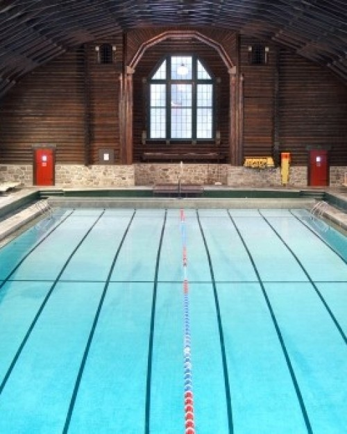 Fairmont Le Chateau Montebello  ( Montebello, Canada )  Swimming in Chateau Montebello's 17-foot heated indoor pool is one of 40 on-site activities. #Jetsetter #JSSpa