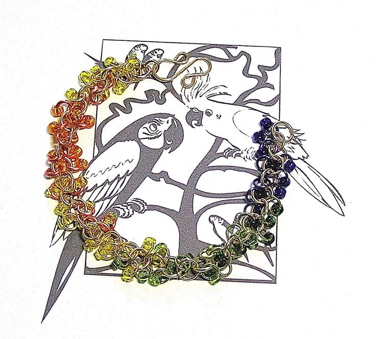 Sun Conure Chainmaille Bracelet - Enchanted Moon