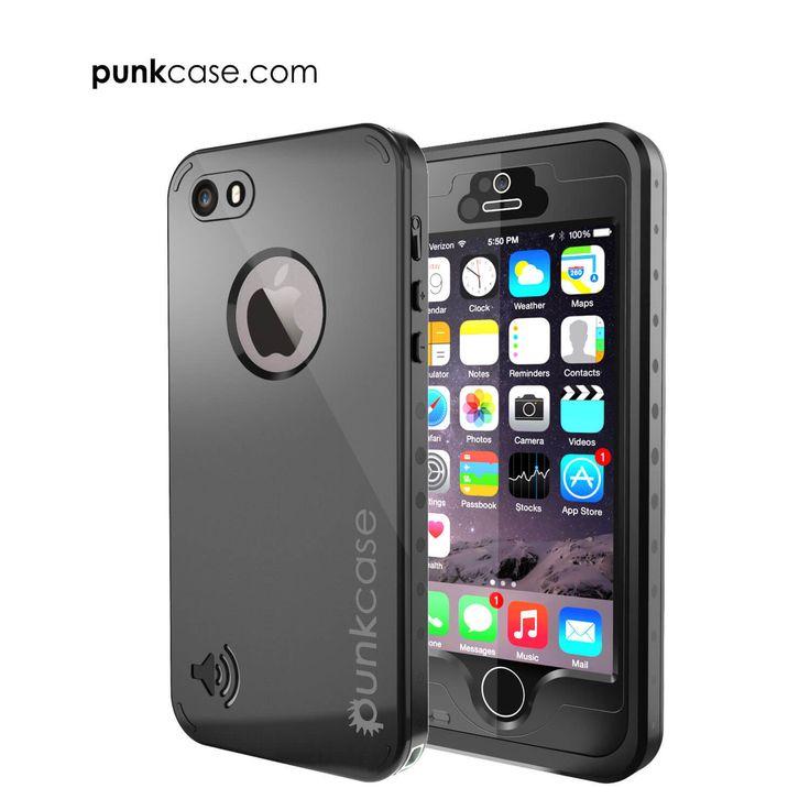 iPhone 5S/5 Waterproof Case, PunkCase StudStar Black Case for Apple iPhone 5S/iPhone 5 Waterproof Case W/ Attached Screen Protector Lifetime Warranty