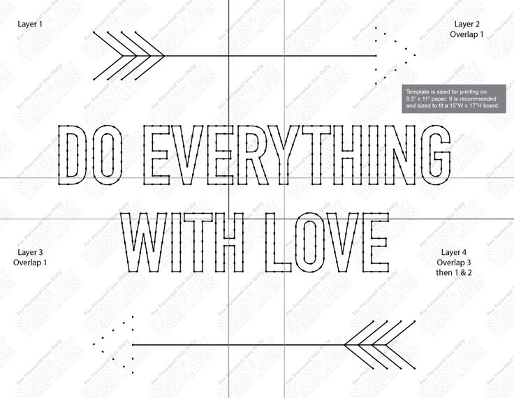 Do everything with love - String art template by StringArtTemplate on Etsy
