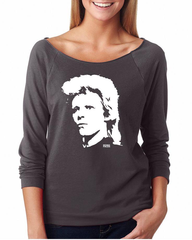 David Bowie Womens Sweatshirt, Bowie Girlfriend Sweater, Ziggy Stardust Shirt, Customised Rock Star Birthday, Personalised Wife Sweatshirt by MONOFACESoADULT on Etsy