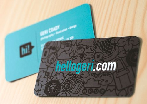 a new collection of stylish rounded corner business cards spot uv