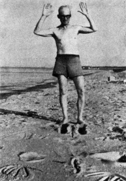 Corbu at Long Island Beach 1950