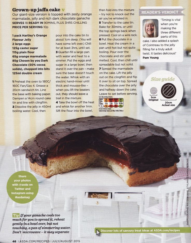 Giant Jaffa Cake recipe