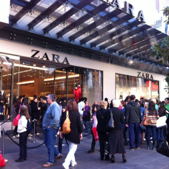 Loving the new Zara store just opened on Bourke st mall Melbourne :)