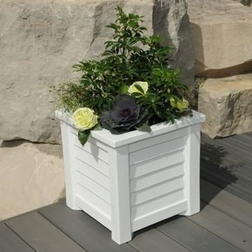 Lakeland 16x16 Planter White By Mayne