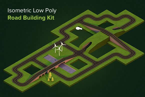 Check out Isometric Low Poly Road Building Kit by Alex Oda on Creative Market