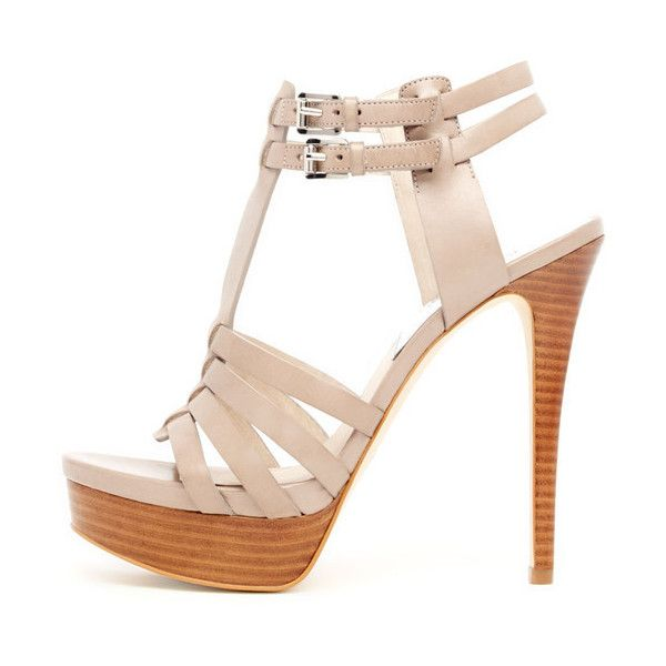 MICHAEL Michael Kors Georgie T-Strap Platform Sandal found on Polyvore