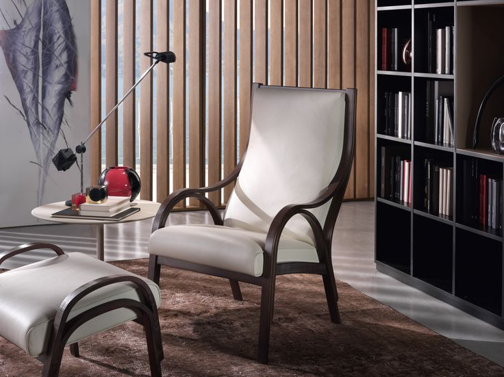 Designed in 1959, the Cavour armchair forms part of a group of products that includes two different models of chair (1960 and 1961) and a games table (1955). With these pieces Vittorio Gregotti, Lodovico Meneghetti and Giotto Stoppino, sought to explore the qualities of curved glued laminated timber and create furniture that was distinct from the so-called international style in fashion at the time, restoring the values of domesticity and emotion.