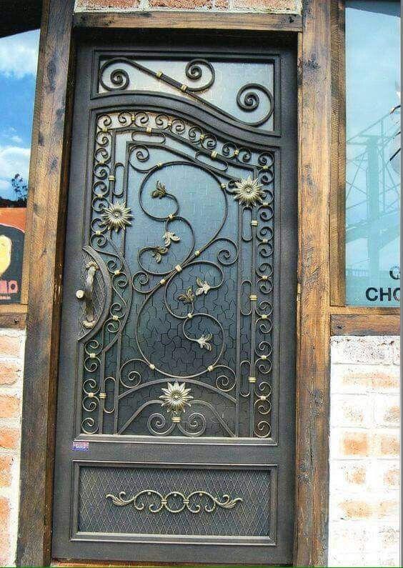 Pin by mar bellaeva on dise os de casas pinterest for Disenos de puertas de hierro