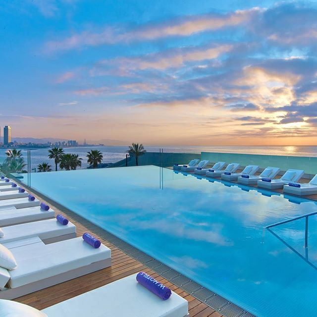 """Absolutely stunning views from the """" Sun Deck"""" at the W Hotel in Barcelona.  #luxwt #luxuryworldtraveler ━━━━━━━━━━━ All week long we will be featuring #Spain. For information about booking any of the resorts featured, please email travel@luxwt.com ━━━━━━━━━━━ """"Dream Big, Eat Well & Travel On"""" ━━━━━━━━━━━"""