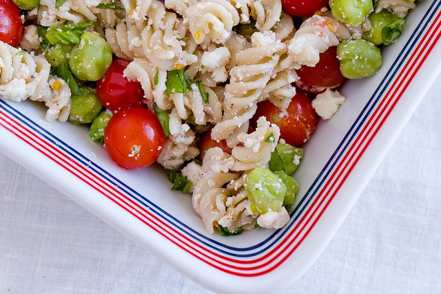 Baked pasta with Cherry Tomatoes & Fresh Chickpeas