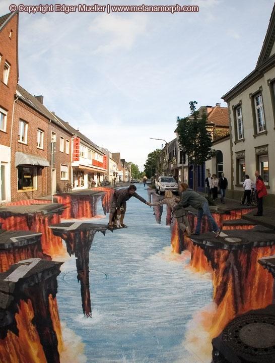 cool sidewalk painting