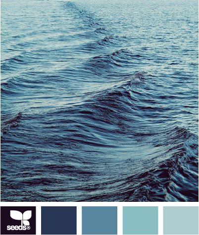 ocean blues: Ocean Colors, Design Seeds, Blue Design, Blue Colors, Blue Paint Colors, Color Palette, Blues Ocean