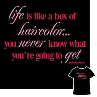 Box of Haircolor T-Shirt, Hairstylist, Stylist, Hairdresser, Beautician, Scissors, Cosmetologist, Hair, on Etsy, $21.95