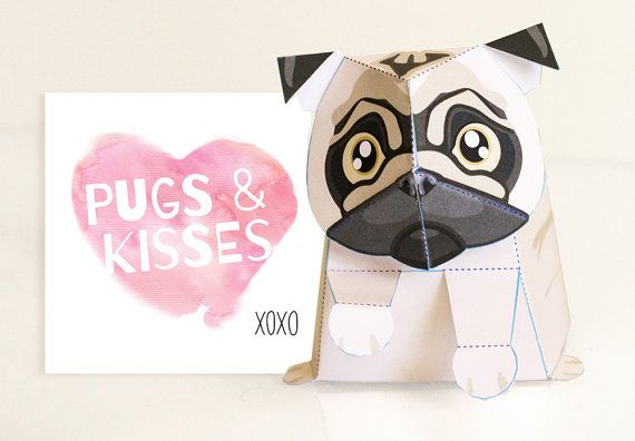 Meet Miles the Pug!  A pug-a-licious little pug thats hard to believe hes made out of paper! He is here to give you lots of pugs and kisses with