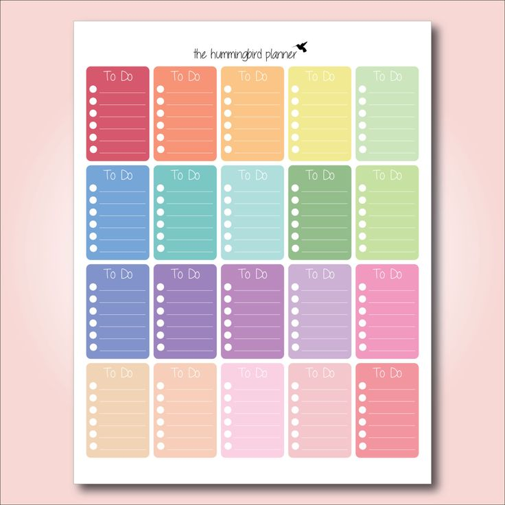Happy planner pastel full box to do checklists printable planner stickers for the happy planner