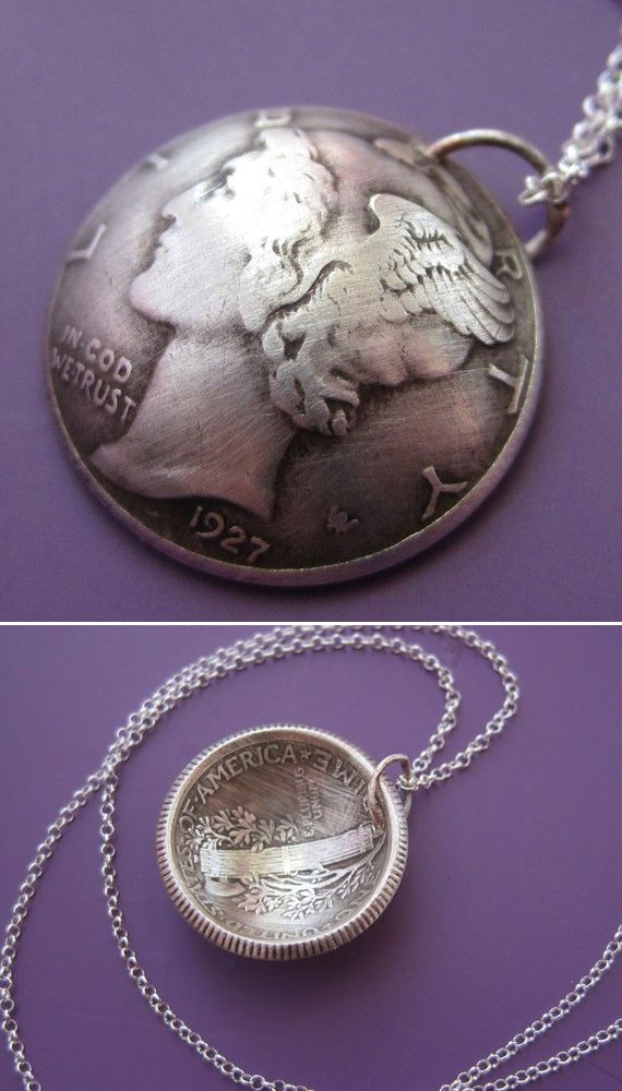 Domed vintage Mercury Dime makes a beautiful necklace. Available in a variety of years!