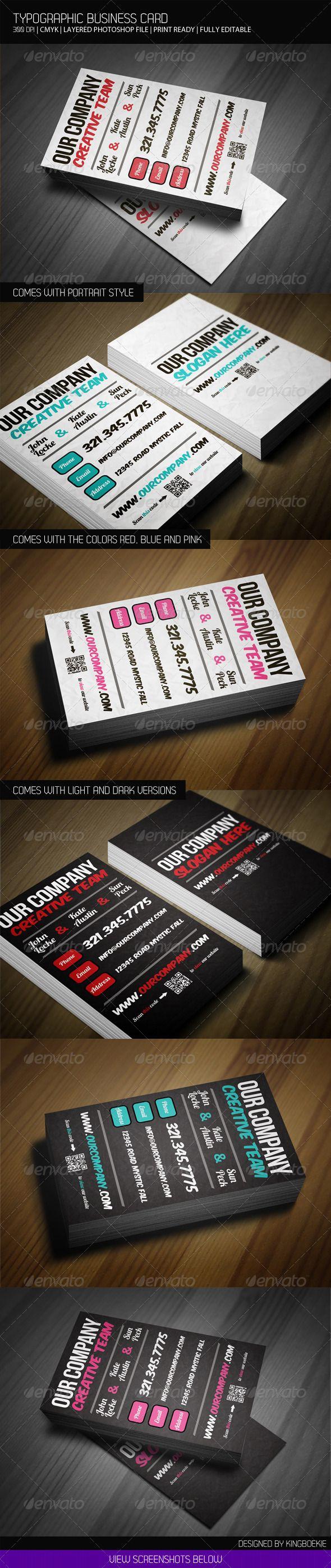 Ampoule laureen luhn design graphique - Typographic Business Card