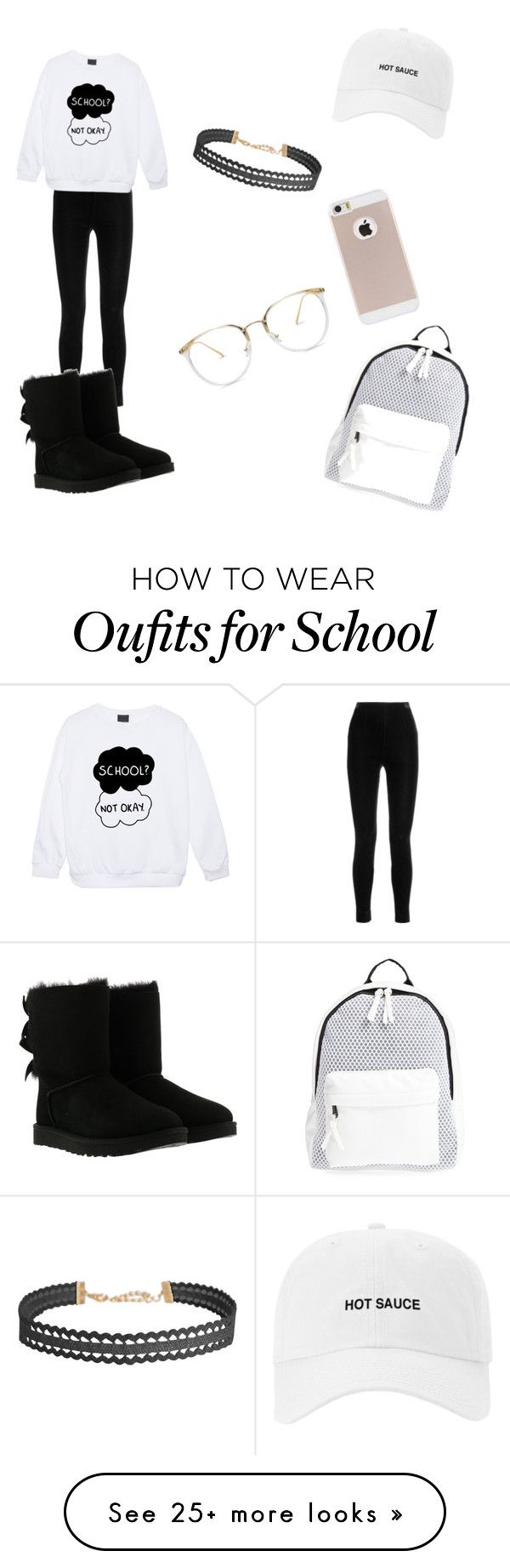 """• BASIC • ✨"" by tytybranch1 on Polyvore featuring Balmain, UGG, Poverty Flats and Humble Chic"